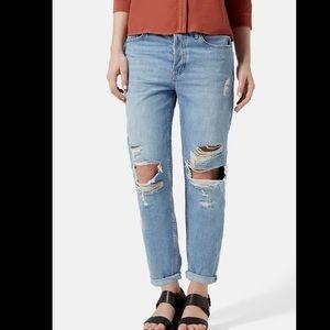 TOPSHOP Hayden Moto high waisted jeans